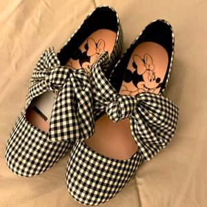 New with tags Minnie Mouse Checkered Ballet Flats